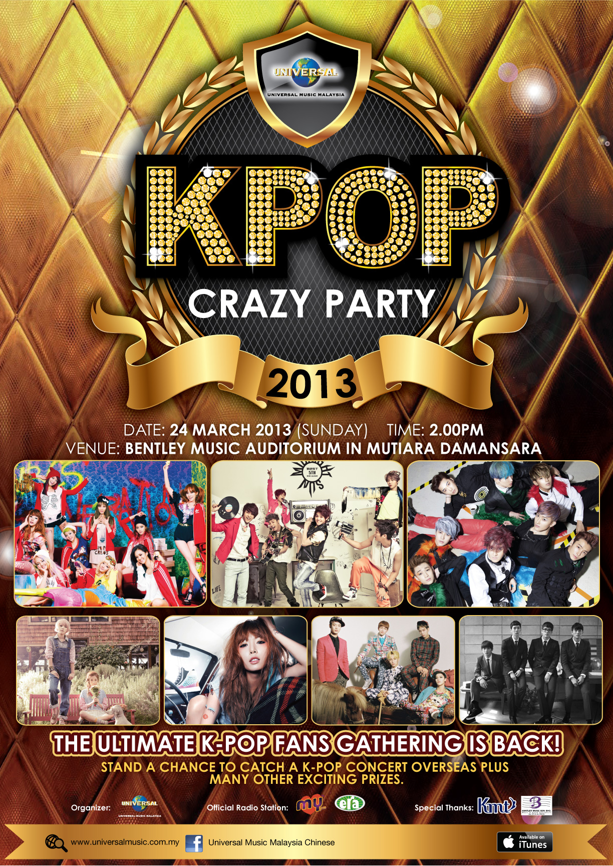 Universal K-Pop Crazy Party 2013 poster